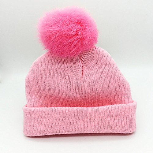 56fcab0d27b 19% OFF on Generic Sky Blue   2016 New Fashion Baby Hats Warm Hat For 0-2  Ages Cute Caps Rabbit Hair Ball Unisex Boys Girls Winter Hat Blue Pink on  Amazon ...