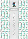Ursus 62174601 - Designkarton Jesus, 200 g/qm, 5 Blatt, DIN A4, Raute, aqua