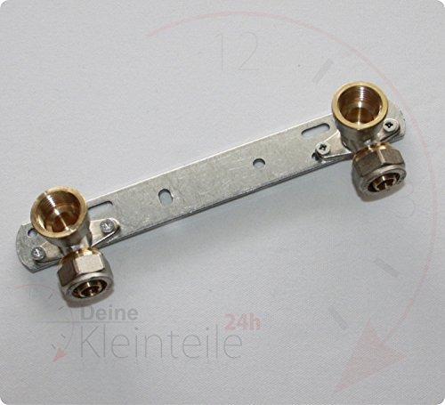 """Deine-Kleinteile-24 2X (16mm - 1/2\"""" ig) - 150mm Montageeinheit Wandscheibe Deckenwinkel Klemmringverschraubung Fitting Klemmring"""