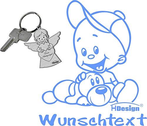 Babyaufkleber und Wunschtext (ca. 20 cm)
