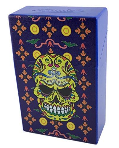 Offre Lagiwa - Etui à paquet de 20 cigarettes couleur au choix avec 1 cadeau bonus (Calavera Bleu)