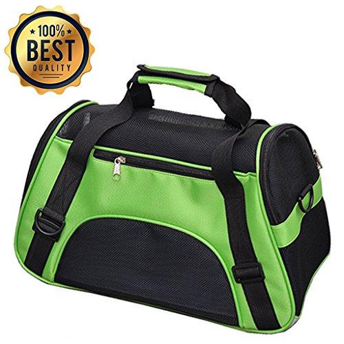 YIY Best - Transportín de viaje para mascotas (aprobado por la línea aérea), 53 x 26 x 36 cm, para gatos, perros pequeños, cachorros y otras mascotas