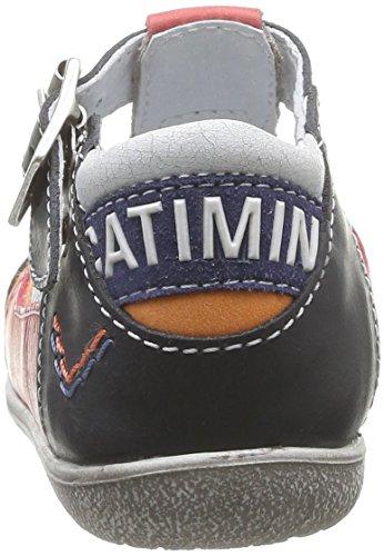 Catimini Calao, Chaussures premiers pas bébé garçon Multicolore (12 Vtc Blanc/Marine/Rouge)