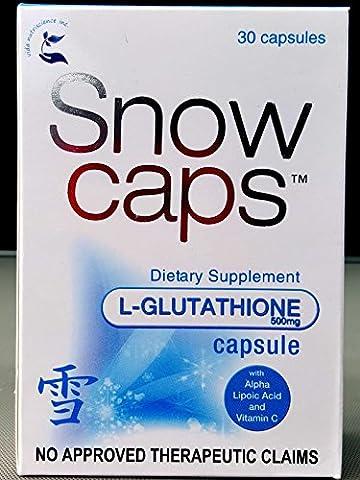 Snow Caps L-Glutathione Capsules Dietary Supplement Anti Oxidant Boost Immune System Skin Whitening
