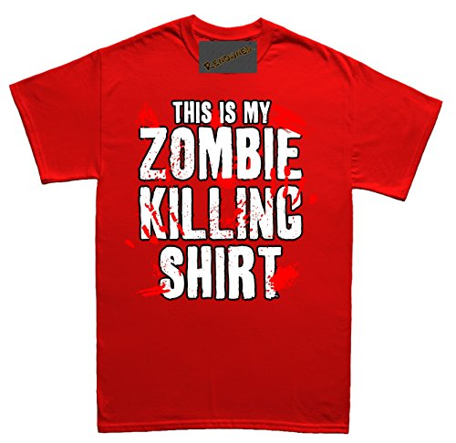 Renowned This is my ZOMBIE KILLING SHIRT !!! Unisex - Kinder T Shirt Rot