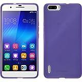 Coque en Silicone pour Huawei Honor 6 Plus - transparent violet - Cover PhoneNatic + films de protection transparents