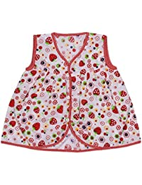 Ole Baby Strawberry Print Organic Cotton Baby Girl Clothes Checks Lace Princess Frock 0-6 Months