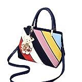 Baymate Mode Tasche Damen Handtasche Bunt Stil Kunstleder Schultertasche Stil 2