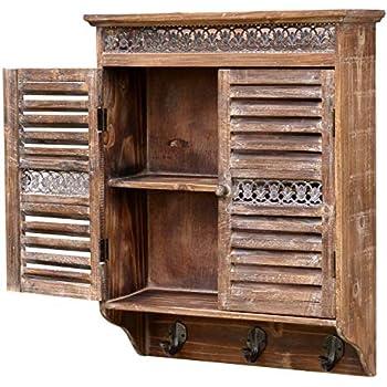 Wandschrank Schiebetüren Vintage Holz Draht: Amazon.de