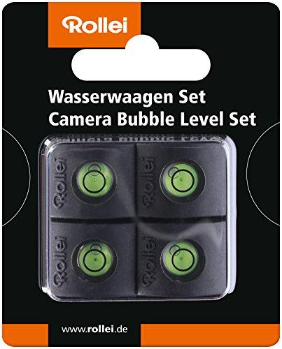 Rollei Wasserwaagen Set - Aufsteckwasserwaage  zum korrekten Ausrichten der Kamera, für den Blitzschuh, 4 er Pack