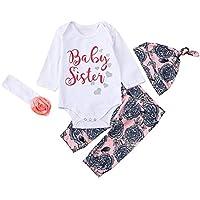 JYC Conjuntos para niñas,Ropa para Chicas,Recién Nacido Infantil Bebé Chicos Chicas CartaTops Camisa+Impresión Pantalones Conjuntos