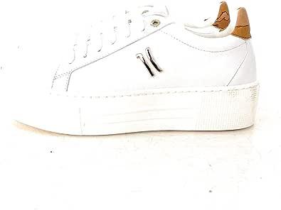 Alviero Martini Prima Classe Sneaker con Parte Posteriore in Stampa Geo Classic. Logo 1C Laterale Colore Oro.Chiusura Sneaker con Lacci