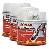 SONAX 3X 05531410 AuspuffReparaturSet Auspuffpaste Dichtmasse Asbestfrei 200ml