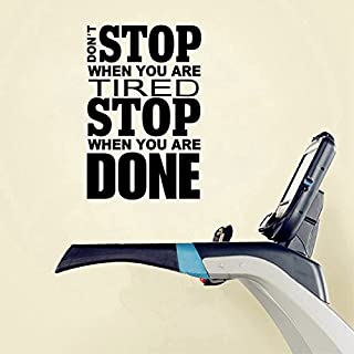 Ferris Store Gym Wall Stickers DON'T STOP WHEN YOU ARE TIRED STOP English Letter Wall Decals Wallpaper