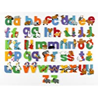 Vinsani WOODEN Lower Case JUNGLE ANIMAL ALPHABET LETTERS PERSONALISED BEDROOM WALL DOOR