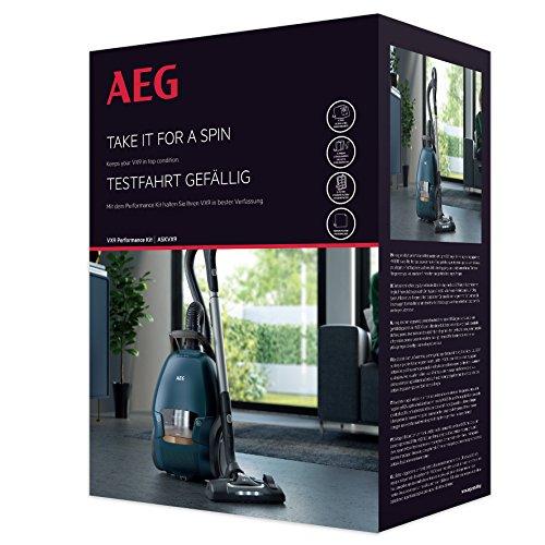 AEG ASKVX9 Performance Kit (Beutel und Filter, 4 original s-bag XXL-Staubsaugerbeutel GR 210S (5 Liter), 1 Motorfilter, 1 Hygienefilter waschbar (D11), 4er Pack s-fresh Duftgranulat, für AEG VX9) weiß
