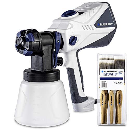 Blaupunkt Pistolet à Peinture Electrique PG4000 600W- Pulvérisateur Spray avec 3 Modes de Pulvérisation - 3 Buses Détachables - Débit réglable 1200 ml/min - Viscosité 100 din/sec - Réservoir de 1,2 L