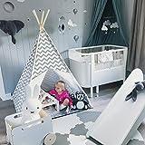Tipi Kinderzimmer Spielzelt für Kinder drinnen draußen - Segeltuch Kinderzelt Indianer (Grauer Chevron)
