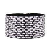 Boho Multicouche En Cuir Wrap Bracelets Magnifique À La Main Tressé Wrap Manchette Magnétique Boucle Casual Bracelet pour Femmes & Fille Cadeau