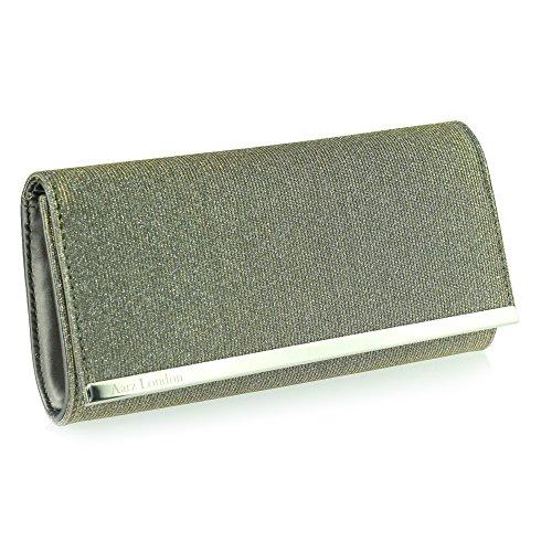 Aarz Frauen-Dame-Abend-Handtaschen-Geldbeutel-Hochzeitsfest -Abschlussball-Tasche (Silber, Gold, Bronze, Champagner, Schwarz) Gun