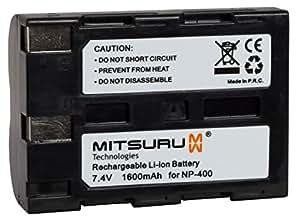 Bateria Mitsuru® 1600mAh per Minolta NP400 NP-400 , e Konica Minolta A-7 Digital , Dimage A1 A2 , Dynax 5D 7D , Sigma SD1 SD14 SD15