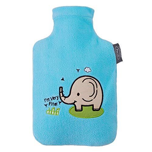 Manfore wärmflasche, wärmeflaschen mit strickbezug rollkragen wärmekissen, kein geruch, safe mit wärmflasche kinder - hilft Wärme und Komfort