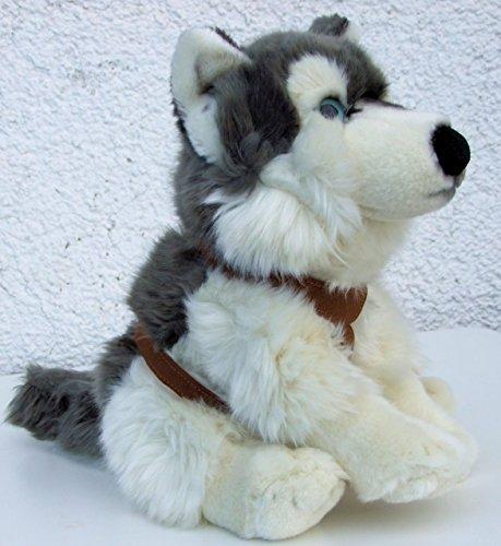 Perro de Trineo con vajilla perro Husky 33cm