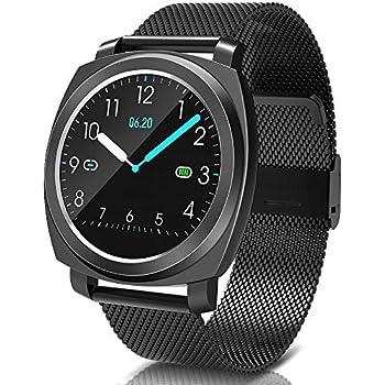 BANLVS Smartwatch, Reloj Inteligente Impermeable 67 con Pulsómetro Presión Arterial, Pulsera Actividad Inteligente con Monitor de Sueño Calorías GPS, ...