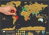 ★ Carte du monde à gratter ★ Version Deluxe - Parfait pour les - Best Reviews Guide