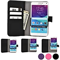 Funda Deslizable tipo Cartera Cooper Cases (TM) Slider para Smartphone de Prestigio MultiPhone 5300 Duo/5501 Duo/5504 Duo en Negro (Acceso a cámara trasera; ranuras para tarjetas, bolsillo; cierre magnético)
