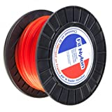 Fil nylon 2,4 mm x 136 m. Carré. Orange. Bobine. Fil débroussailleuse - Pièce neuve