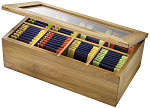 WESTMARK boîte à thé avec 8 compartiments de rangement pour thé 280 x 160 x 90 mm