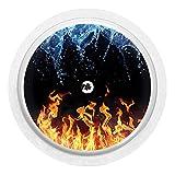 Wasser und Flammen - Sticker Aufkleber für FreeStyle Libre Sensor