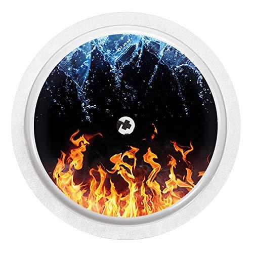 Flamme-sensor (Wasser und Flammen - Sticker Aufkleber für FreeStyle Libre Sensor)
