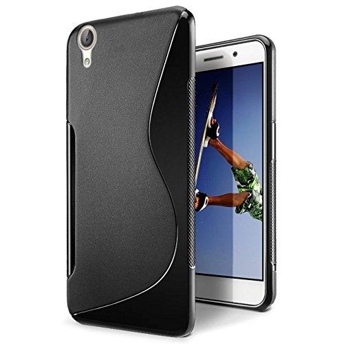 CoolGadget Huawei Ascend G630 Hülle, Ultra Thin Tasche Cover Schlank Weich Flexibel Anti-Kratzer Schutzhülle Abdeckung Case, Silikon Cover für Ascend G630 Schwarz-Case