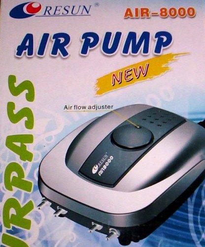 AquarLine Air 8000Vier Auslass Luftpumpe, 660Liter/Stunde