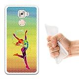 WoowCase LeTV LeEco Le Pro 3 Hülle, Handyhülle Silikon für [ LeTV LeEco Le Pro 3 ] Tanzende Frau - multifarbigen Punkten Handytasche Handy Cover Case Schutzhülle Flexible TPU - Transparent