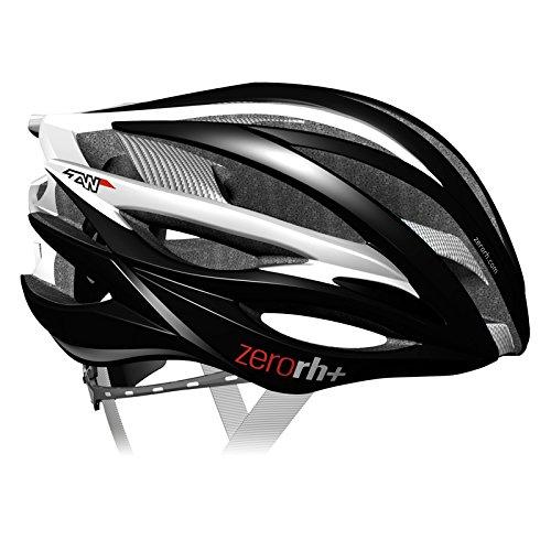zero rh+, Casco bici per lo sport ed il tempo libero ZW, EHX6050-02-M, 54-58 cm, colore nero-bianco