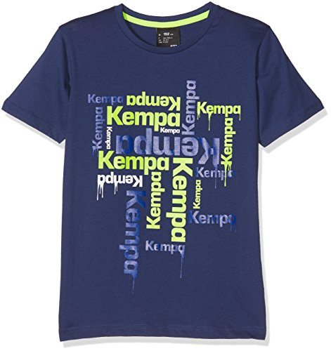 Kempa Kinder Paint T-Shirt, deep blau, 128