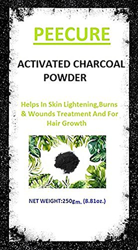 Peecure Activated Charcoal Powder 250 gm For Skin, Face Mask,Hair shampoos,Black Head Removal Mask,Skin treatment,Skin care