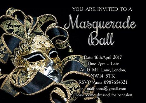 ar Masquerade Abend Geburtstag Party Einladungen (Masquerade-einladungen)
