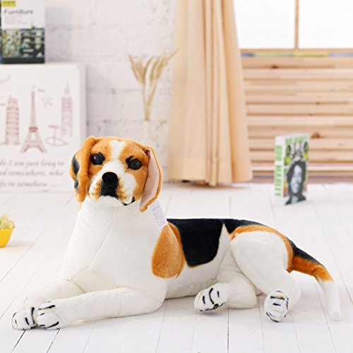 VERCART Plüsch Kind Tier Lernspaß freund, Lernspielzeug Weiß 90cm Hund