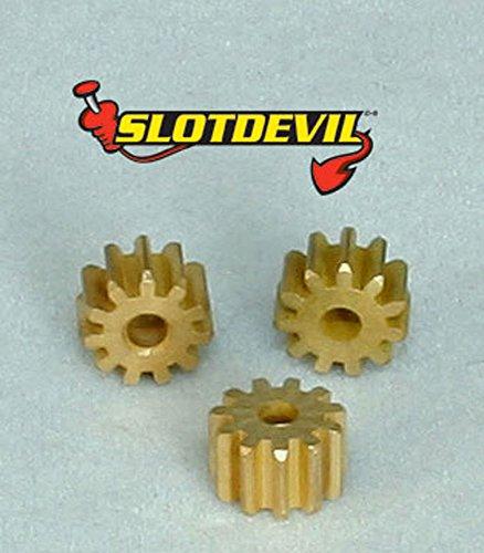 Slotdevil Messing Motorritzel 11 Zähne M50 für 2 mm Motorwelle (3 Stück) (Stück Sidewinder 3)