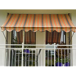 Angerer 2315/1300 Klemmmarkise PE-Gewebe Nr. 1300, Orange, 150 cm