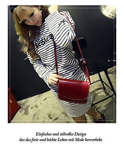 Honeymall Umhängetasche Imitation cuir Retro klein Damen asche Sattel Tasche Handtasche Clutch Schultertasche Shoulder Bag(Blau) Wein