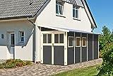 Karibu Gartenhaus WANDLITZ 5 terragrau Gerätehaus 181x442cm 19mm