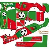 Stickers Adhesivos de Playmyplanet Fútbol Portugal Compatibles con Playmobil Mini Bus 5267