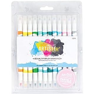 Artiste 12-Piece Pastel Dual Tip Brush Marker