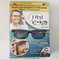 Focus Lunettes de lecture réglables Myopia Lunettes -6D à + Dioptries 3D Loupe Force variable Focus Focus Vision - Black & Clear