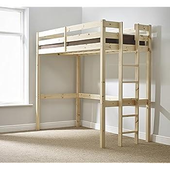 Loft Bunk Bed 2ft 6 Small Single Wooden High Sleeper